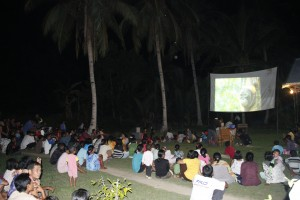 film showing at Tanjung Baik Budi